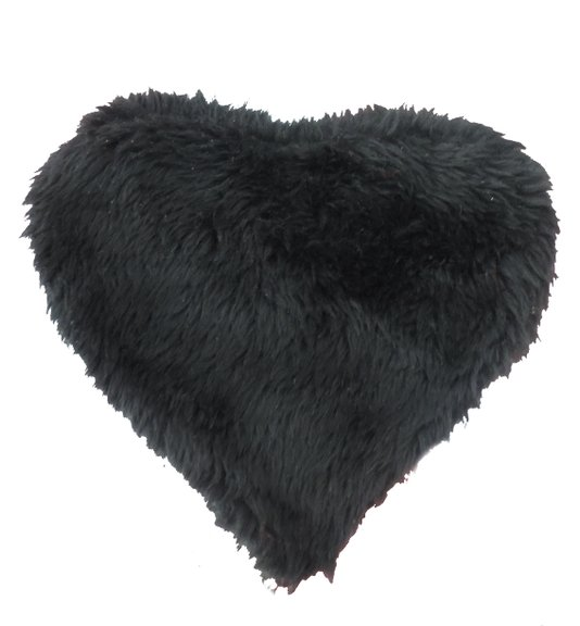 Coração de Pelucia Porta Coisas Preto