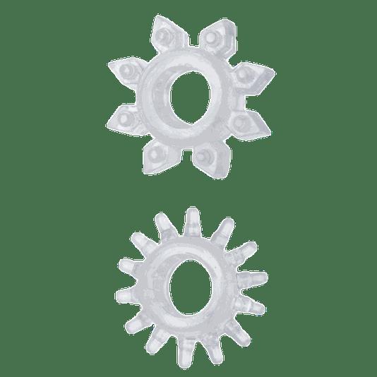Anel Peniano Estimulador Com Saliencias Transparente Silicone
