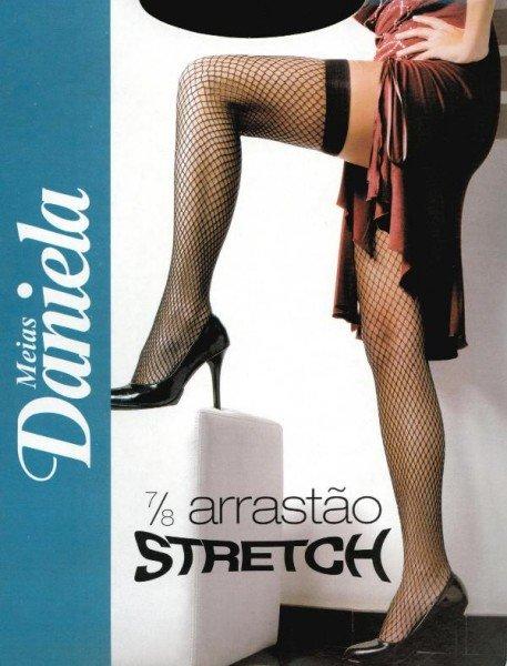 Meia 7/8 Arrastão Stretch Preta