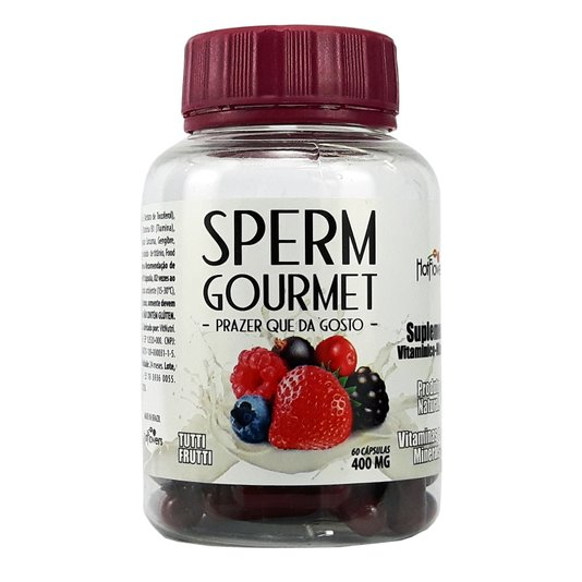 Suplemento Vitaminico Mineral Sperm Gourmet - Tutti Frutti - 60 Cápsulas