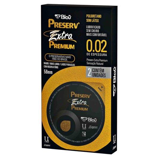 Preservativo Extra Premium sem Latex 2 un