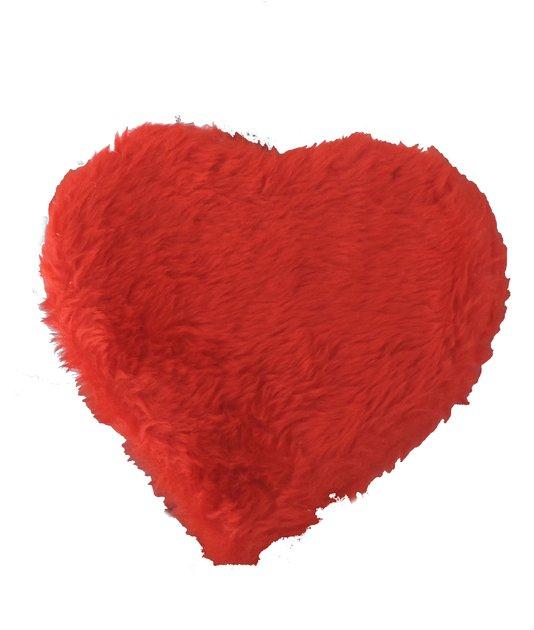 Coração de Pelucia Porta Coisas Vermelho