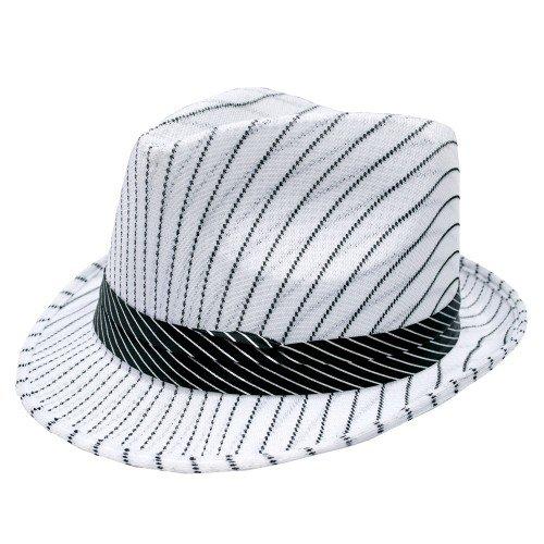 Chapéu da Mafia Branco Listrado