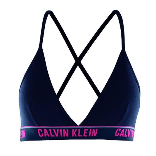 Top Triângulo Cotton Calvin Klein Azul Marinho