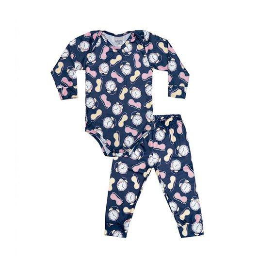 Body Bebê com Calça Hora de Dormir Menina