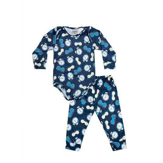 Body Bebê com Calça Hora de Dormir Menino