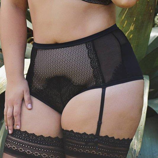 Calcinha Hot Pant Tecido Tec Pro Plus Preta