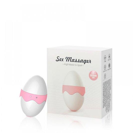 Estimulador Clitoriano Formato Ovo com 7 Modos de Vibração Sex Massager Roxo