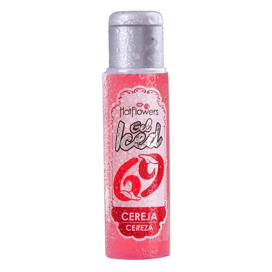 Gel Comestível para Sexo Oral Iced Cereja Hot Flowers