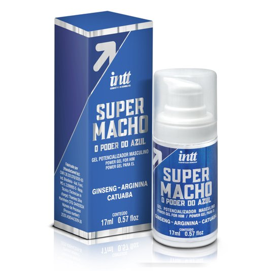 Gel Potencializador Masculino Super Macho 17ml Intt  - O Poder do Azul