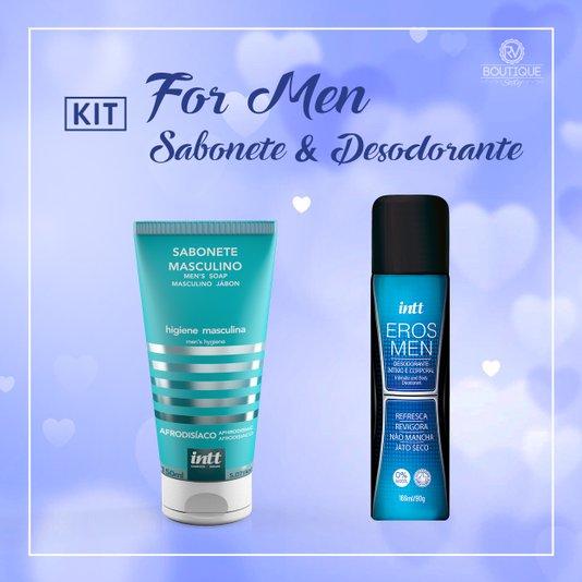 Kit For Men - Sabonete e Desodorante Intimo Masculino Intt