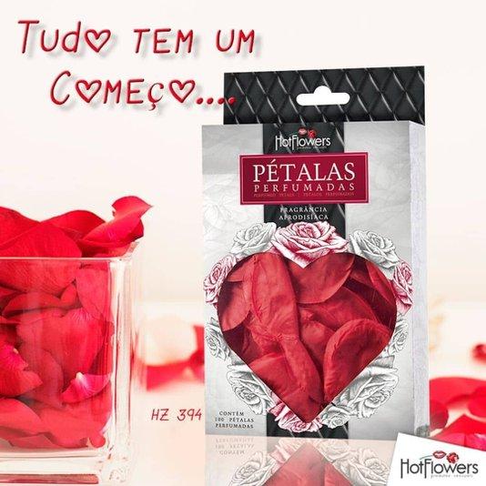 Pétalas de Rosas Vermelhas Perfumadas 100 Unidades Hot Flowers