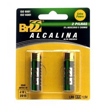Pilha Alcalina Extra Power AA Pequena com 2 Unidades