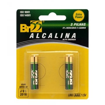 Pilha Alcalina Extra Power AAA Palito com 2 Unidades
