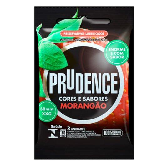 Preservativo Prudence Morangão com 3UN 58mm
