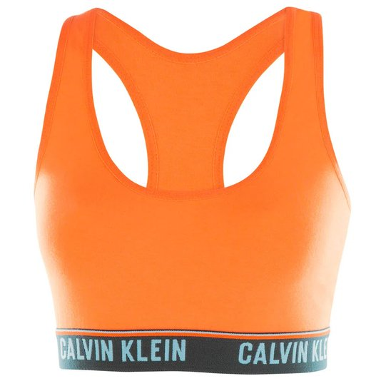 Sutiã Top Nadador Cotton Calvin Klein Laranja Médio