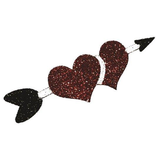 Tatuagem Adesiva Bijoux de Pele Coração com Flecha