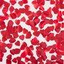 Petalas de Rosas Vermelhas em Formato de Corações Intt 100 Unidades
